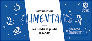 Flyer de la Distribution alimentaire du ccas mars 2020