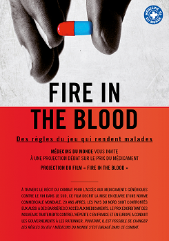 "Affiche du film ""Fire un the blood"" projeté en   avril 2017"